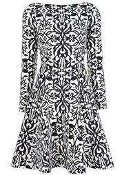 расклешенное платье с орнаментом Lela Rose