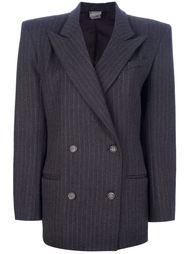 костюм с юбкой в тонкую полоску Krizia Vintage