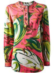 блузка с абстрактными цветами Emilio Pucci Vintage