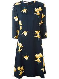 платье миди с цветочным принтом  Marni