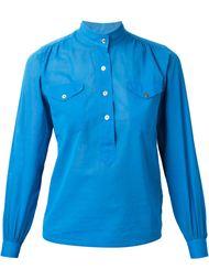 блузка с воротником-мандарин Yves Saint Laurent Vintage
