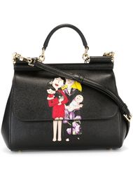 сумка-тоут 'Sicily' с заплаткой Dolce & Gabbana