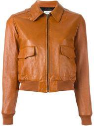 укороченная куртка бомбер Saint Laurent