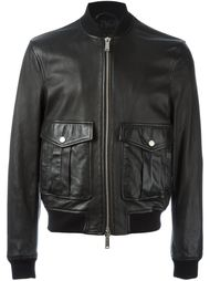 кожаная куртка-бомбер Dsquared2