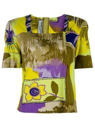 блузка с цветочным мотивом Pierre Cardin Vintage