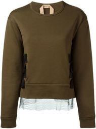 свитер с контрастной лямкой Nº21