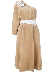 вельветовое платье на одно плечо  A.W.A.K.E