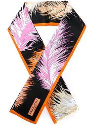 шарф с принтом перьев Emilio Pucci