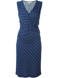 платье с запахом без рукавов  Diane Von Furstenberg