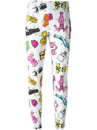 брюки с принтом Moschino