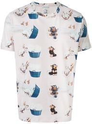 футболка с принтом кошек и собак J.W.Anderson