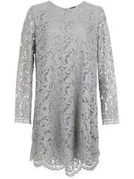 платье шифт с цветочным кружевом Adam Lippes