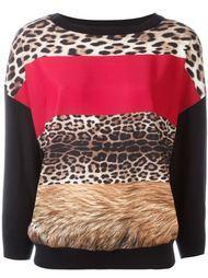 джемпер с леопардовым принтом Boutique Moschino