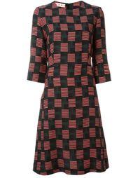 платье с абстрактным узором Marni