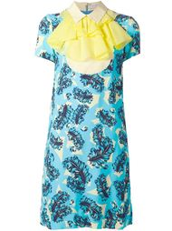 платье с жабо и принтом перьев Viktor & Rolf