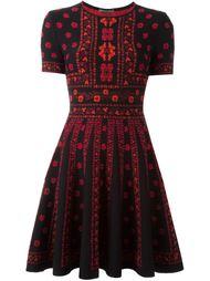 вязаное платье с цветочным узором Alexander McQueen