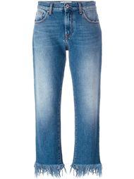 джинсы с необработанными краями MSGM