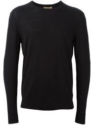 свитер с заплатками на рукавах  Burberry