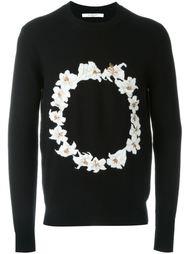 свитер с цветочной вышивкой Givenchy