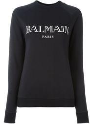 свитер с логотипом  Balmain
