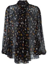 блузка с узором 'Obsession' Alexander McQueen