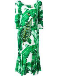 платье с лиственным принтом  Dolce & Gabbana