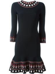 расклешенное жаккардовое платье Alexander McQueen