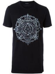 футболка с круглым принтом Balmain
