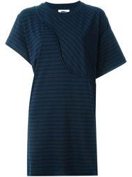 асимметричное платье футболка  Mm6 Maison Margiela