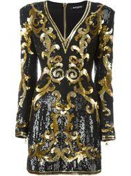 платье с принтом барокко  Balmain