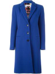 классическое однобортное пальто Emilio Pucci