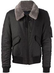 куртка-бомбер с меховым воротником Lanvin