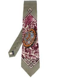 галстук с принтом Китайского дракона Jean Paul Gaultier Vintage