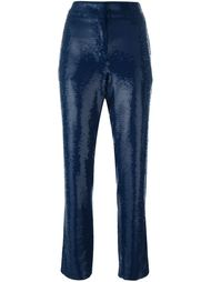 укороченные брюки с пайетками Emilio Pucci