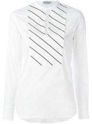 блузка с нагрудником в полоску  Brunello Cucinelli