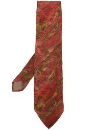 галстук с абстрактным принтом Kenzo Vintage