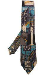 галстук с графическим принтом Jean Paul Gaultier Vintage