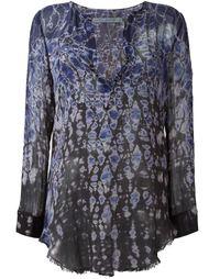блузка с абстрактным принтом   Raquel Allegra