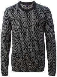 свитер с абстрактным принтом Lanvin
