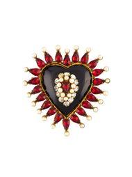 брошь в виде сердца Chanel Vintage