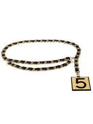 цепочный ремень с подвеской '5' Chanel Vintage