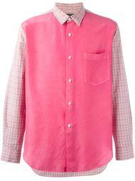 рубашка с панелями в клетку Comme Des Garçons Vintage