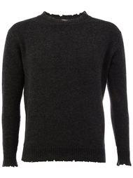 свитер с рваными деталями   Avant Toi