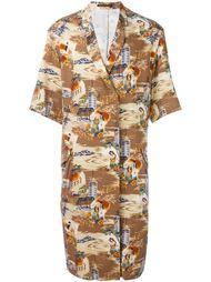 пальто с принтом 'Hawaii' Yohji Yamamoto Vintage