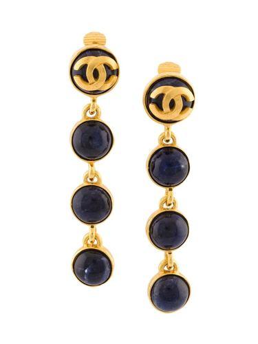 клипсы-подвески с логотипом Chanel Vintage