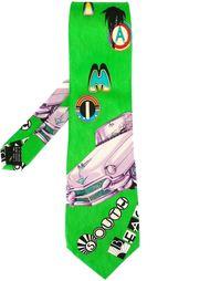 галстук с принтом Versace Vintage