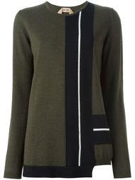свитер с панельным дизайном Nº21