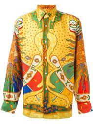 рубашка с узором Hermès Vintage
