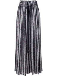 полосатая юбка с цветочным принтом Lanvin