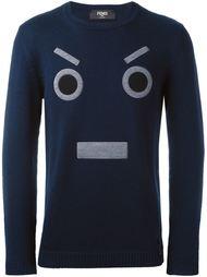 свитер с вышитым лицом Fendi